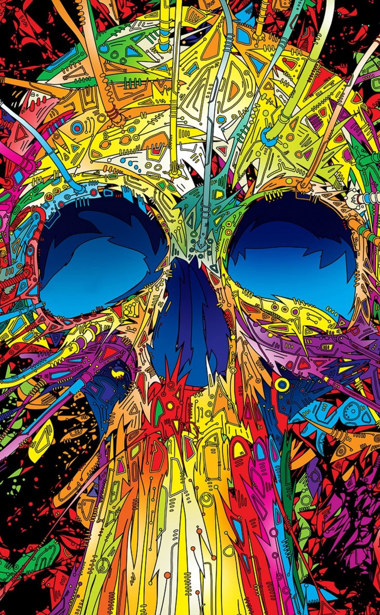 Psychedelic Skull Wallpaper for Apple iPhone 4 / 4s