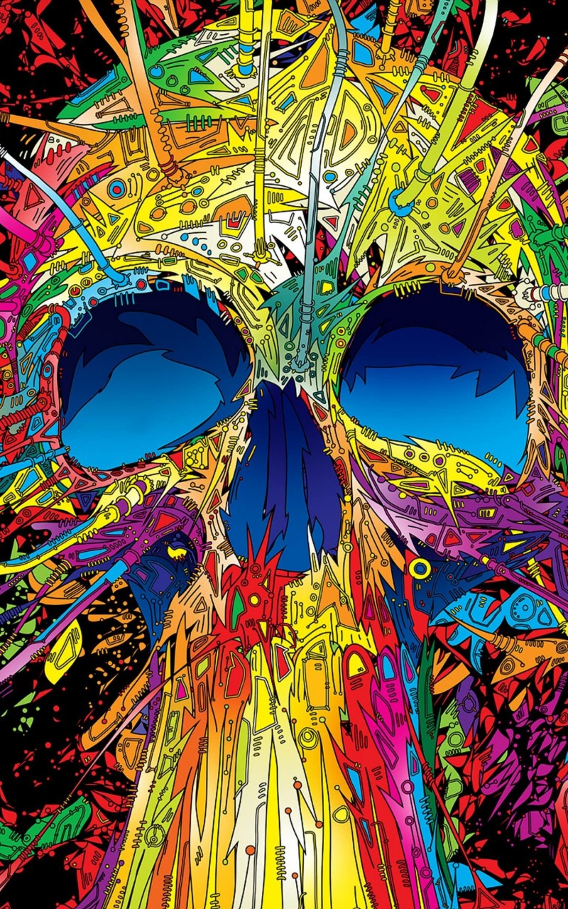 Psychedelic Skull Wallpaper for Amazon Kindle Fire HD