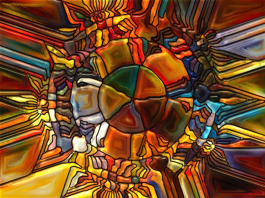 Psychedelic Stained Glass Wallpaper for Desktop 1024x768