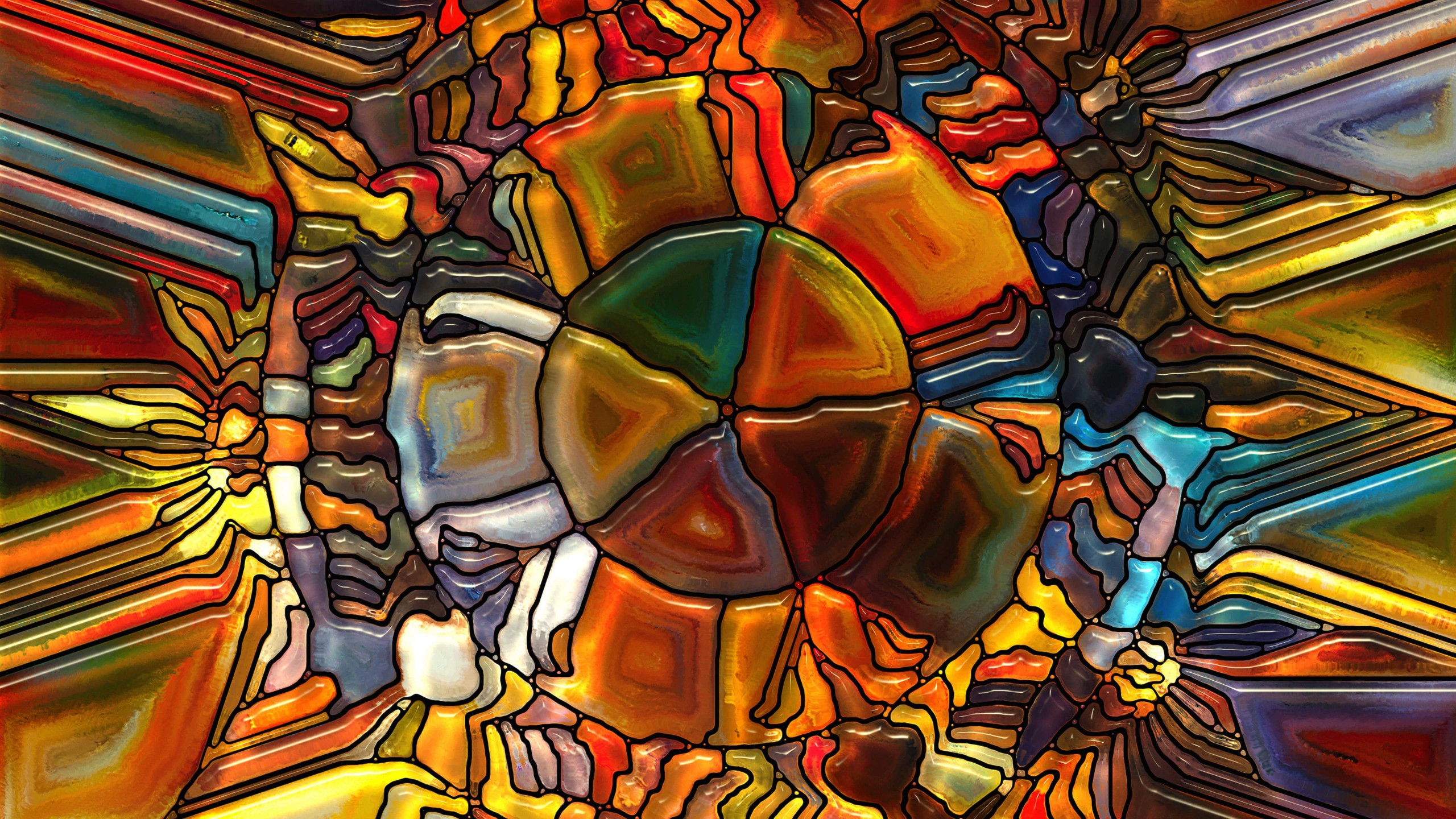 Psychedelic Stained Glass Wallpaper for Desktop 2560x1440