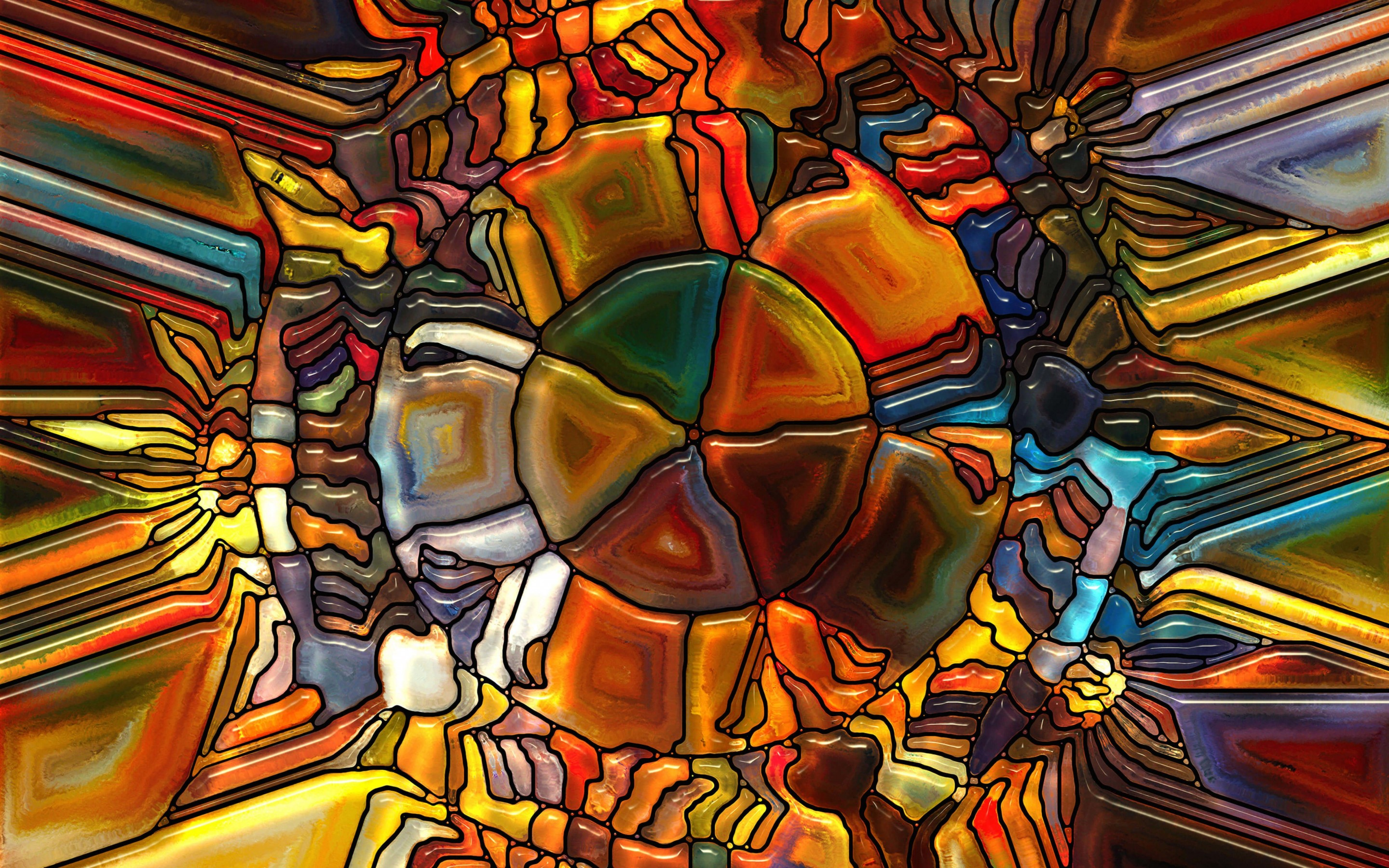 Psychedelic Stained Glass Wallpaper for Desktop 2880x1800