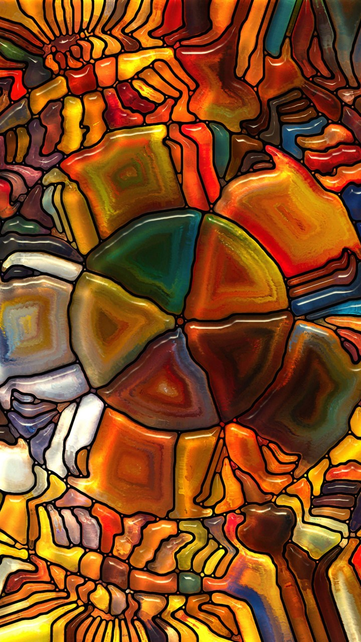 Psychedelic Stained Glass Wallpaper for Motorola Droid Razr HD
