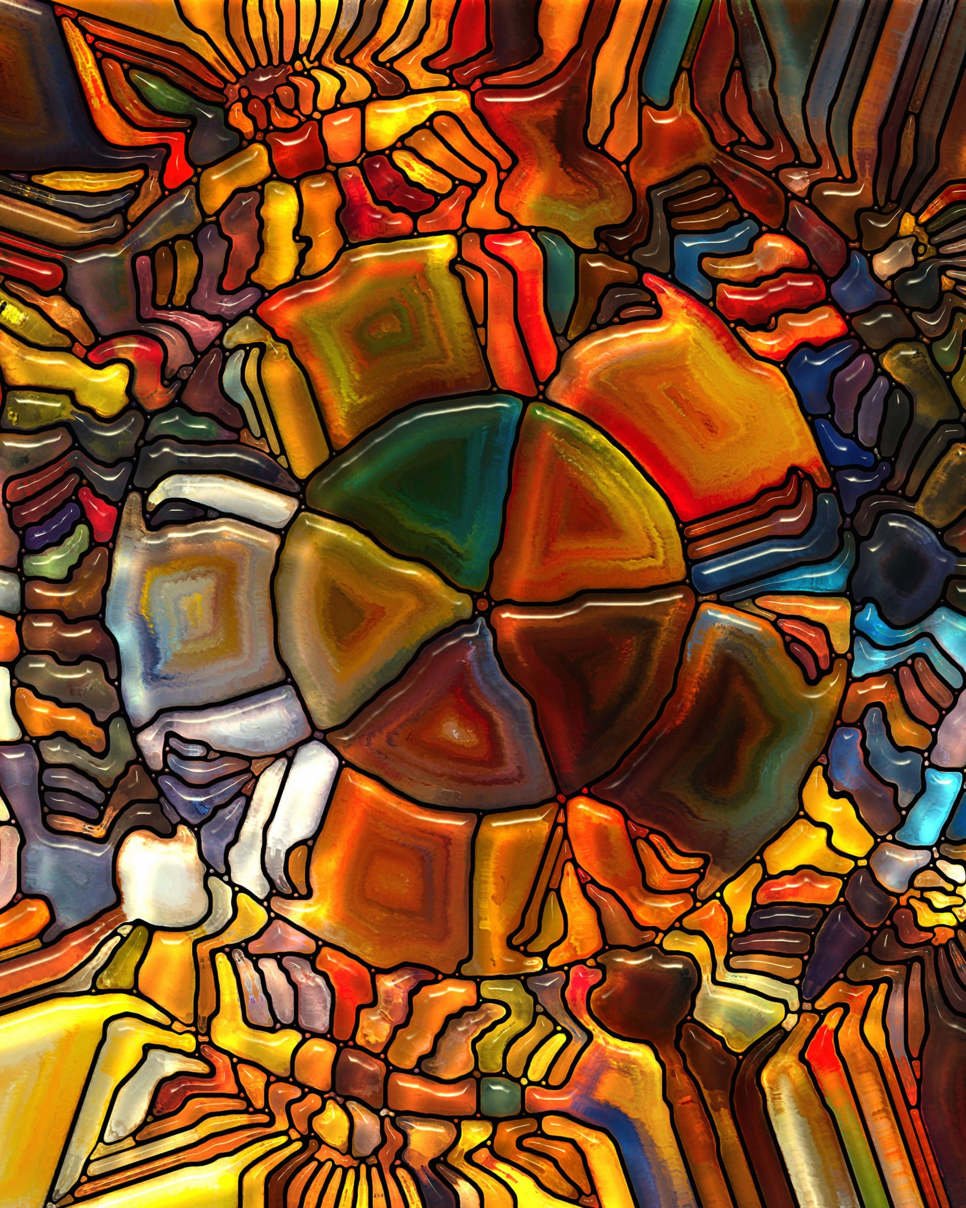 Psychedelic Stained Glass Wallpaper for Google Nexus 7
