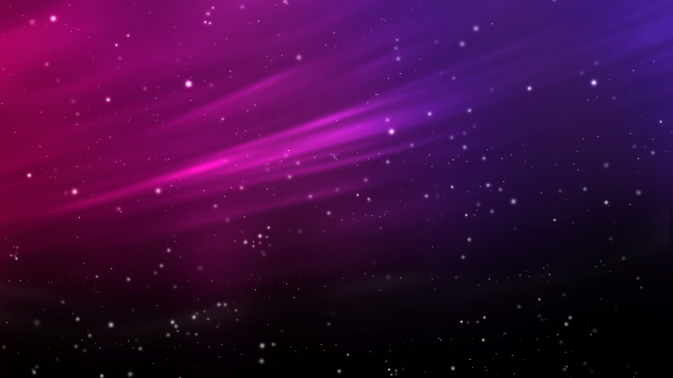 Purple Aurora Sparks Wallpaper for Desktop 1366x768