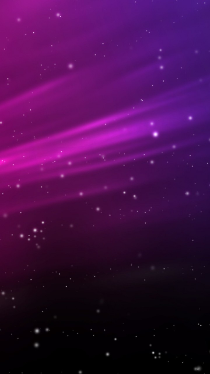 Purple Aurora Sparks Wallpaper for HTC One X