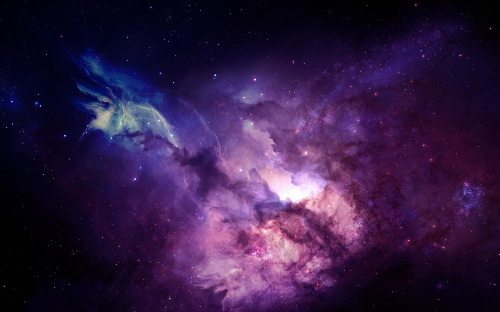 Purple Nebula Wallpaper for Desktop 1680x1050