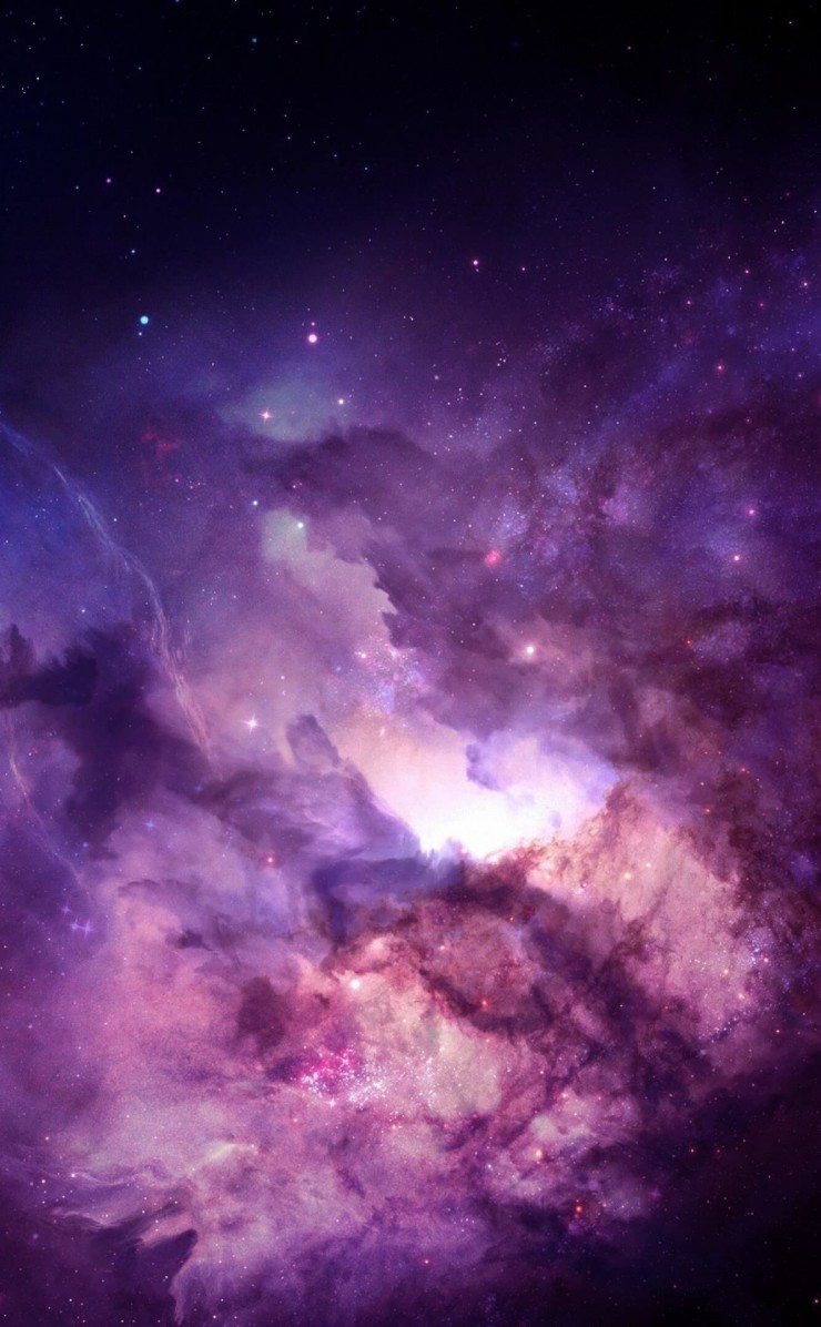 Purple Nebula Wallpaper for Apple iPhone 4 / 4s
