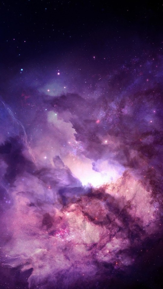 Purple Nebula Wallpaper for LG G2 mini