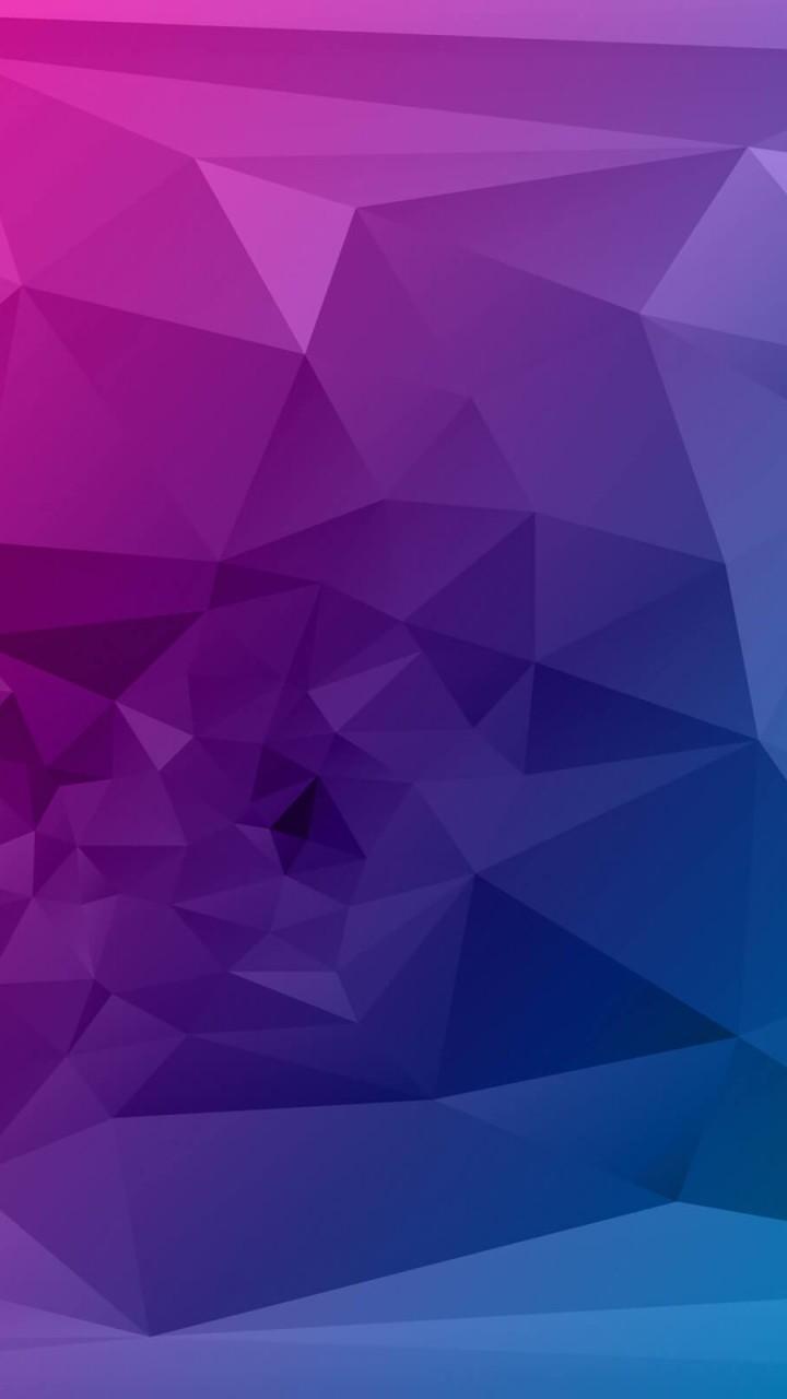 Purple Polygonal Background Hd Wallpaper For Moto G