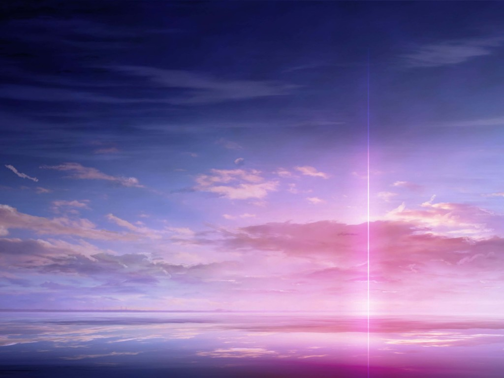 Purple Solar Pillar Wallpaper for Desktop 1024x768