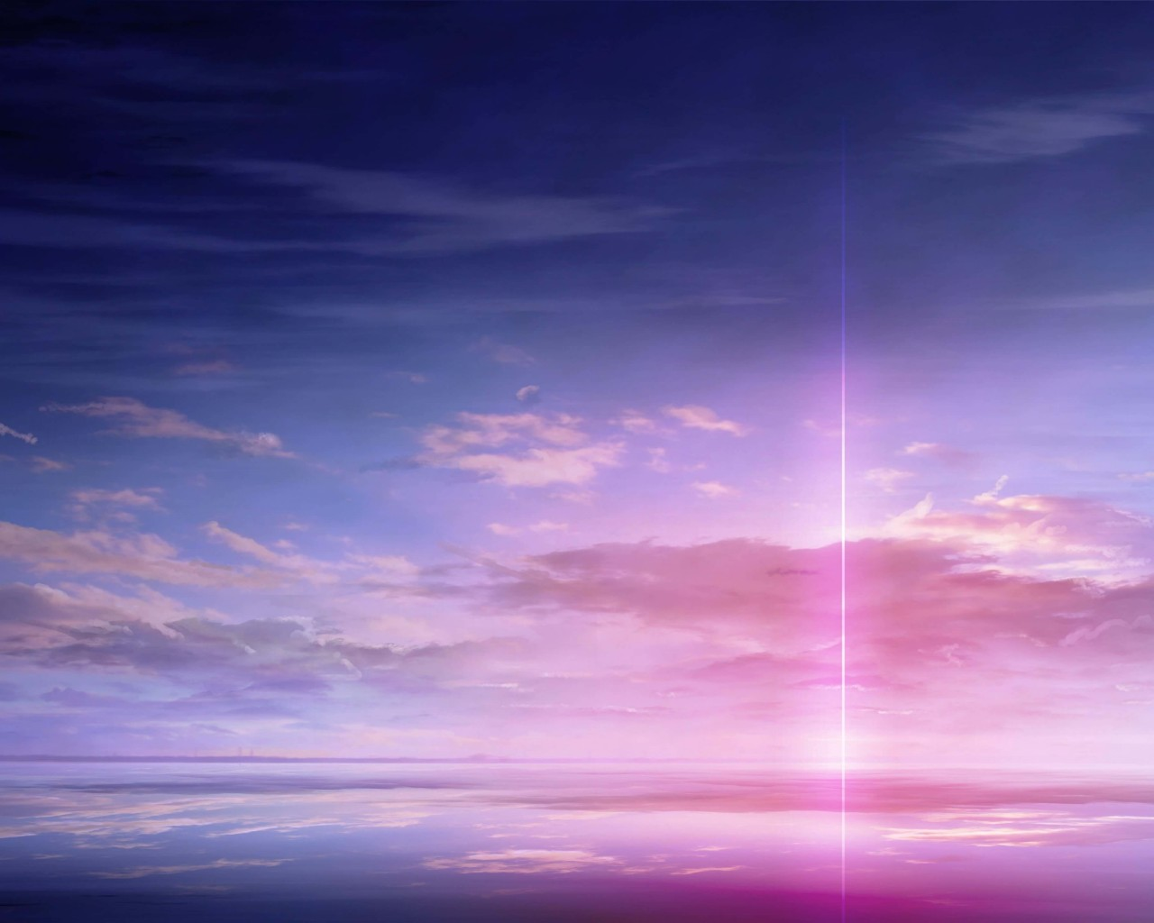 Purple Solar Pillar Wallpaper for Desktop 1280x1024