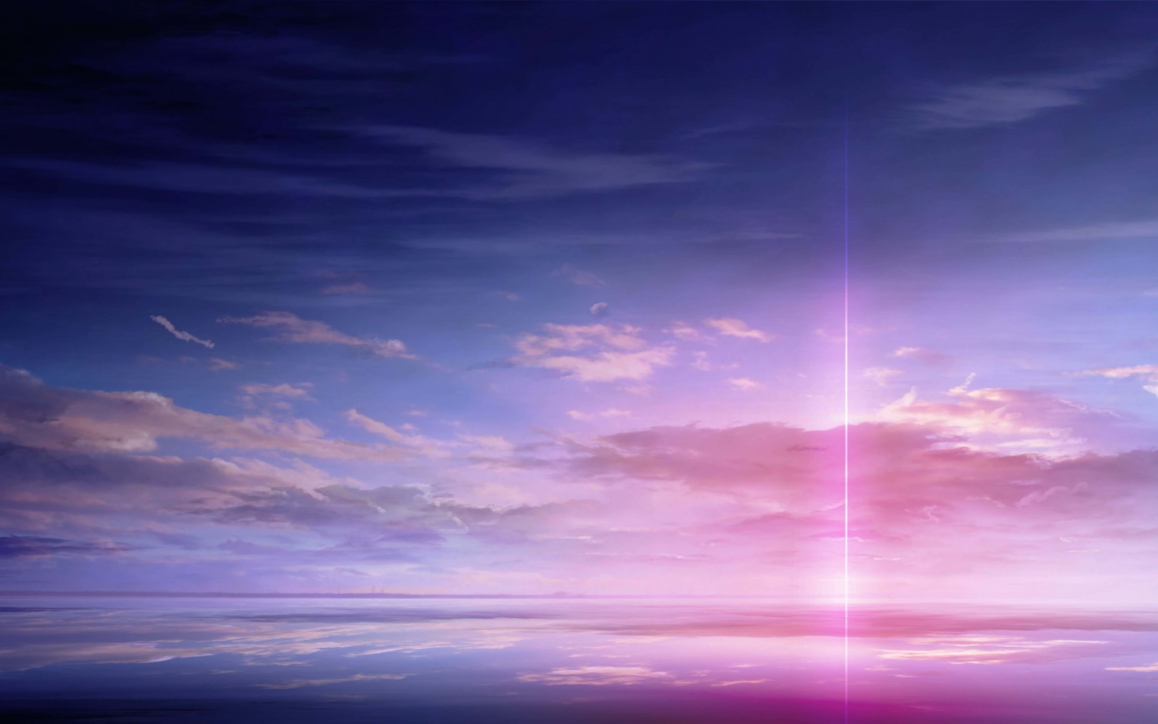 Purple Solar Pillar Wallpaper for Desktop 1680x1050