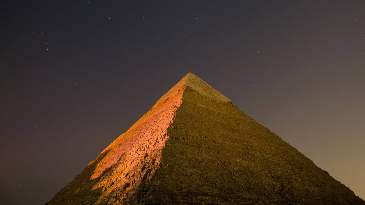 Pyramid by Night Wallpaper for Desktop 1280x720