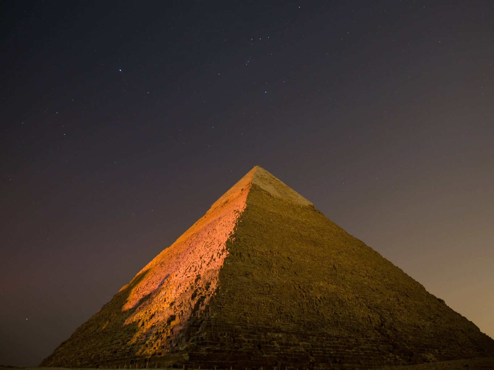Pyramid by Night Wallpaper for Desktop 1600x1200