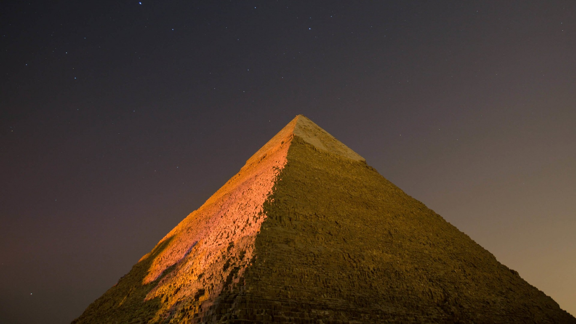Pyramid by Night Wallpaper for Desktop 1920x1080