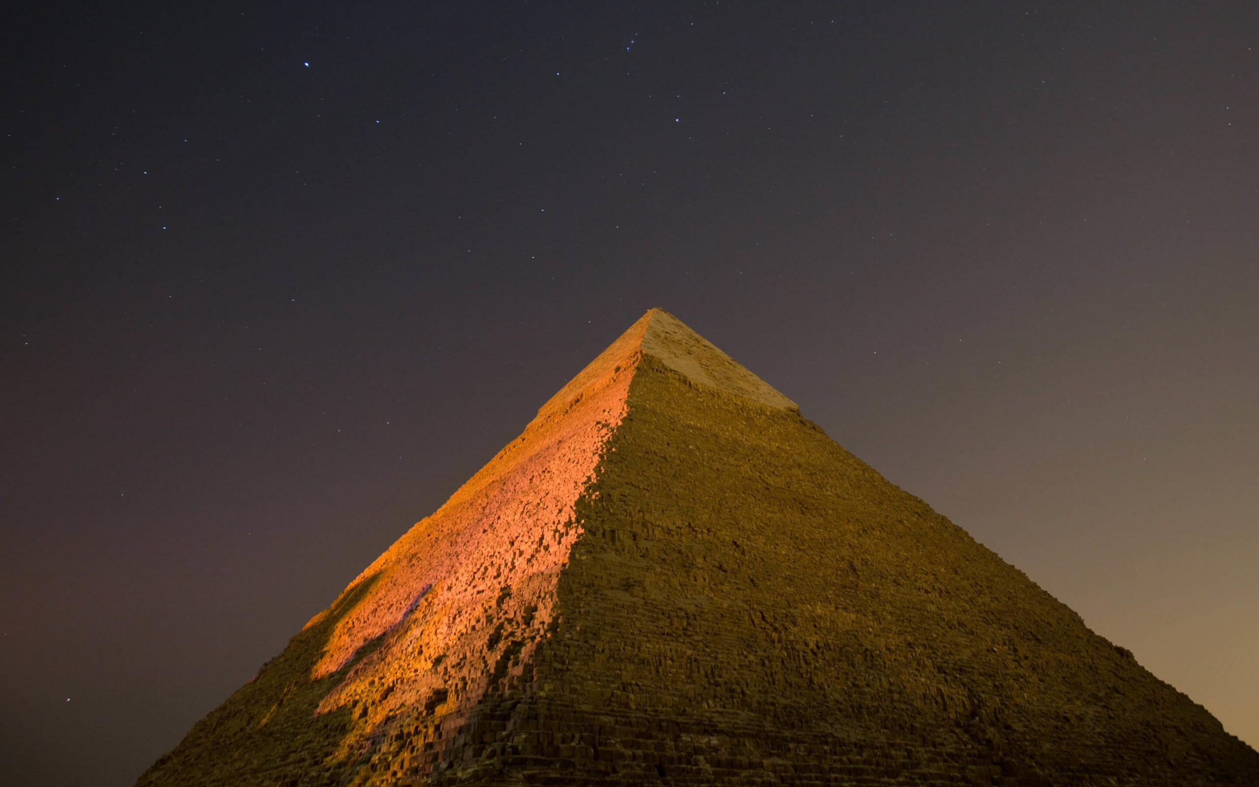 Pyramid by Night Wallpaper for Desktop 2560x1600