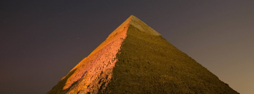 Pyramid by Night Wallpaper for Social Media Facebook Cover