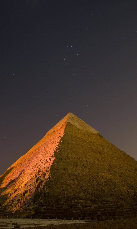 Pyramid by Night Wallpaper for HTC Desire HD