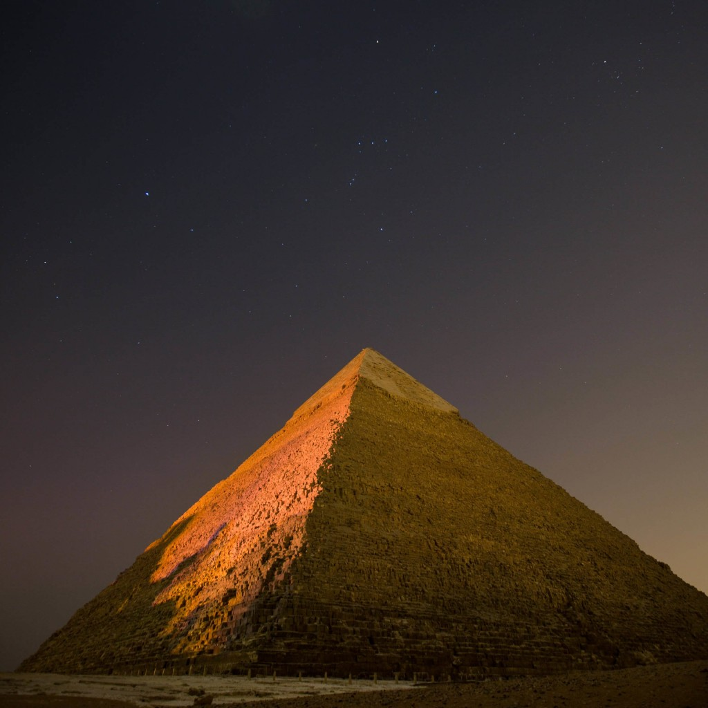 Pyramid by Night Wallpaper for Apple iPad