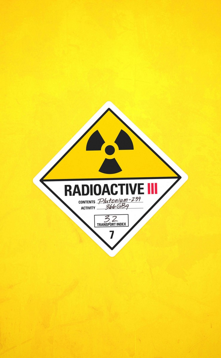 Radioactive Wallpaper for Apple iPhone 4 / 4s