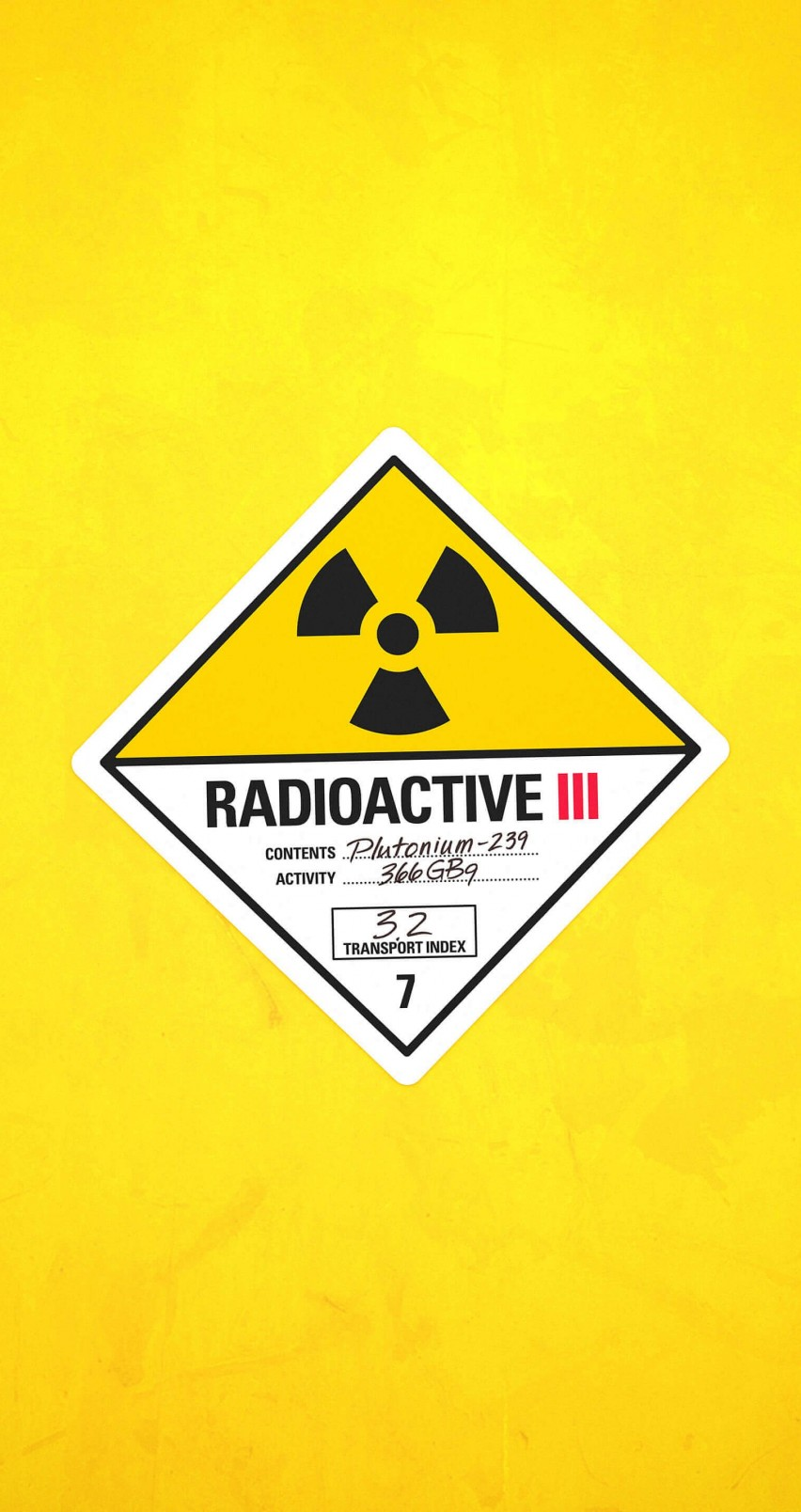Radioactive Wallpaper for Apple iPhone 6 / 6s