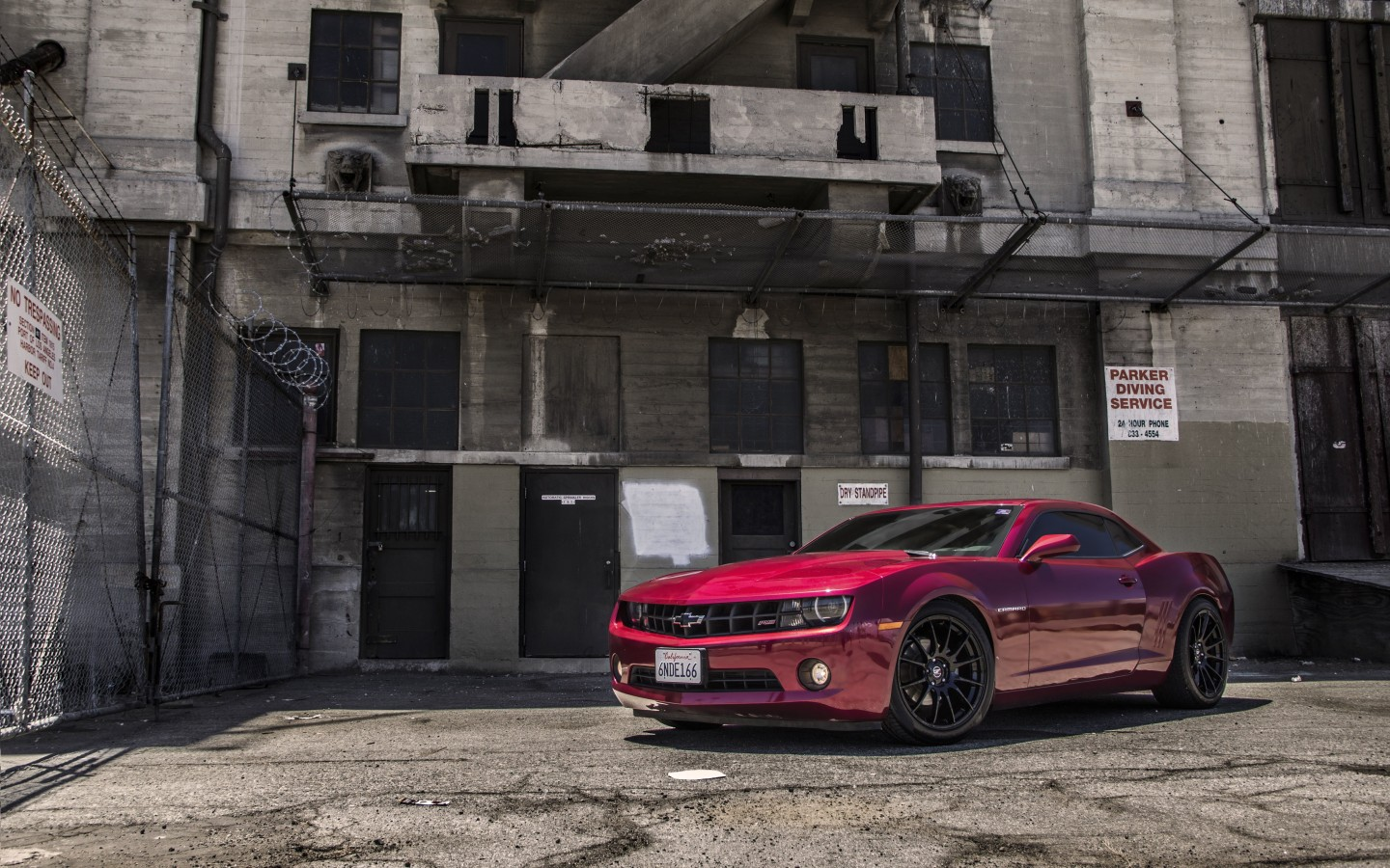 Red Chevrolet Camaro RS Wallpaper for Desktop 1440x900