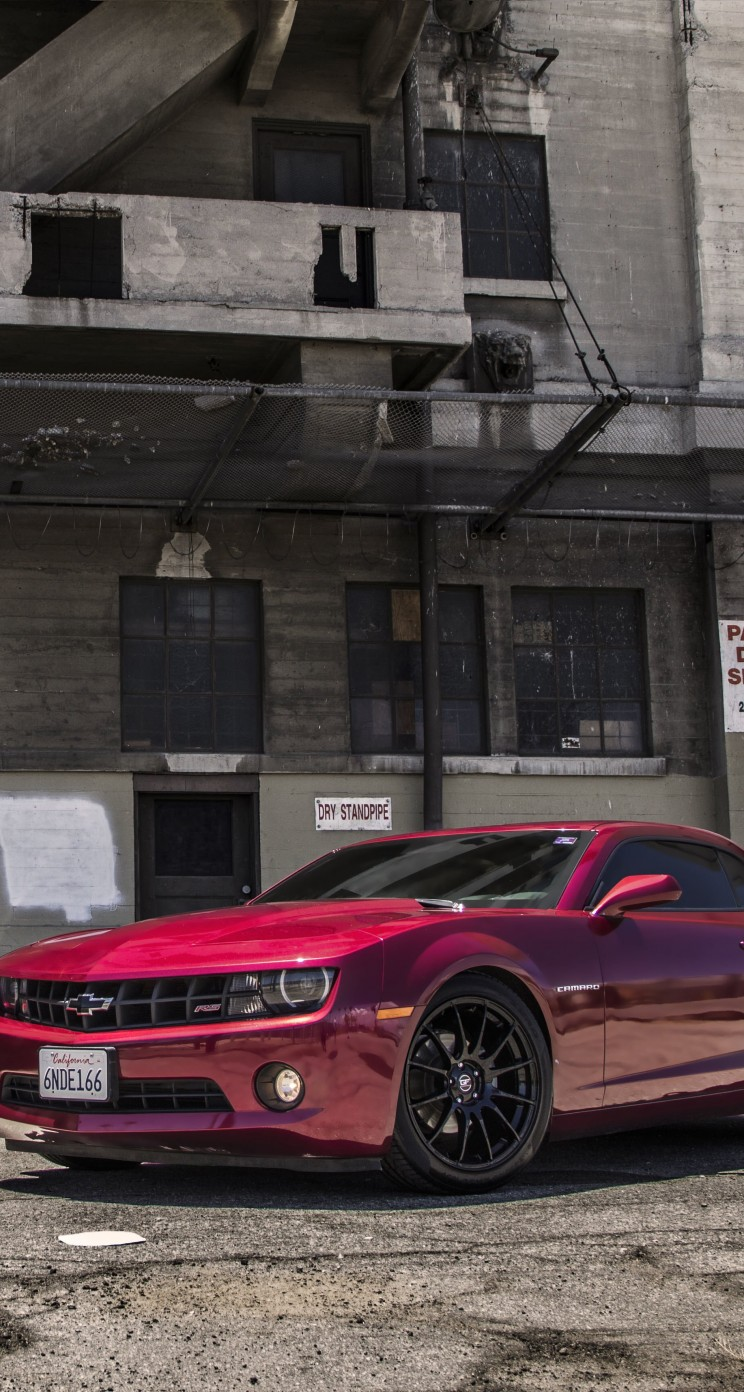 Red Chevrolet Camaro RS Wallpaper for Apple iPhone 5 / 5s