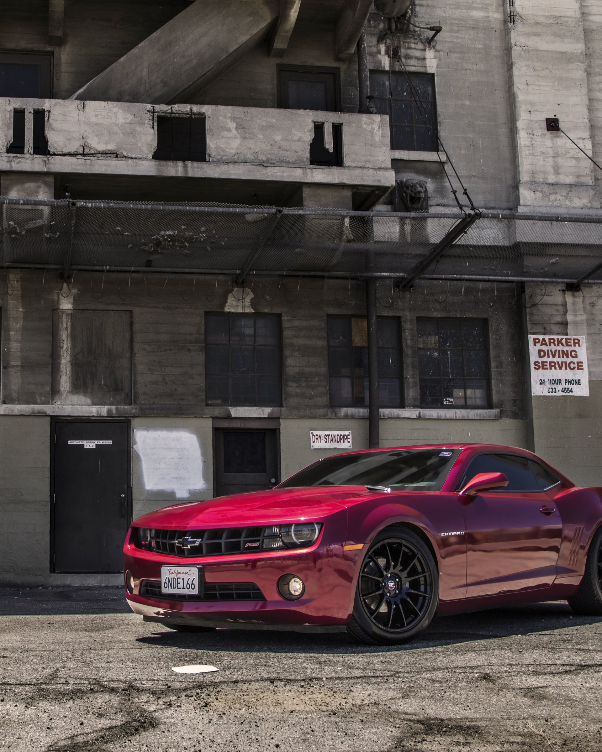 Red Chevrolet Camaro RS Wallpaper for Google Nexus 7