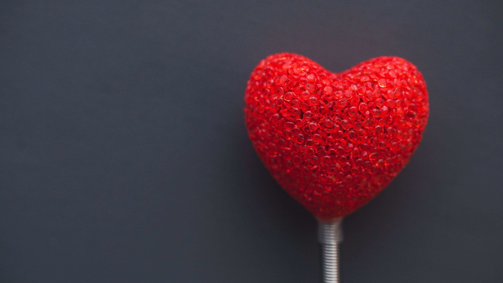 Red Heart Lollipop Wallpaper for Desktop 1600x900