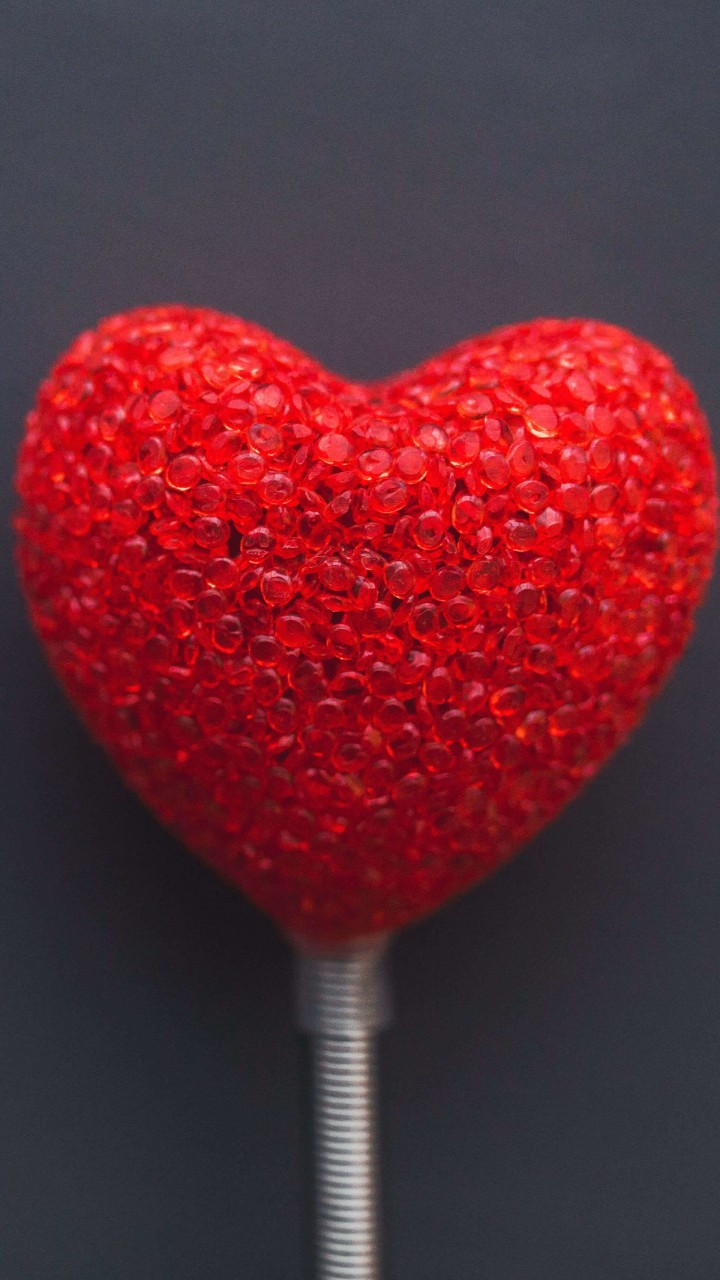 Red Heart Lollipop Wallpaper for HTC One X