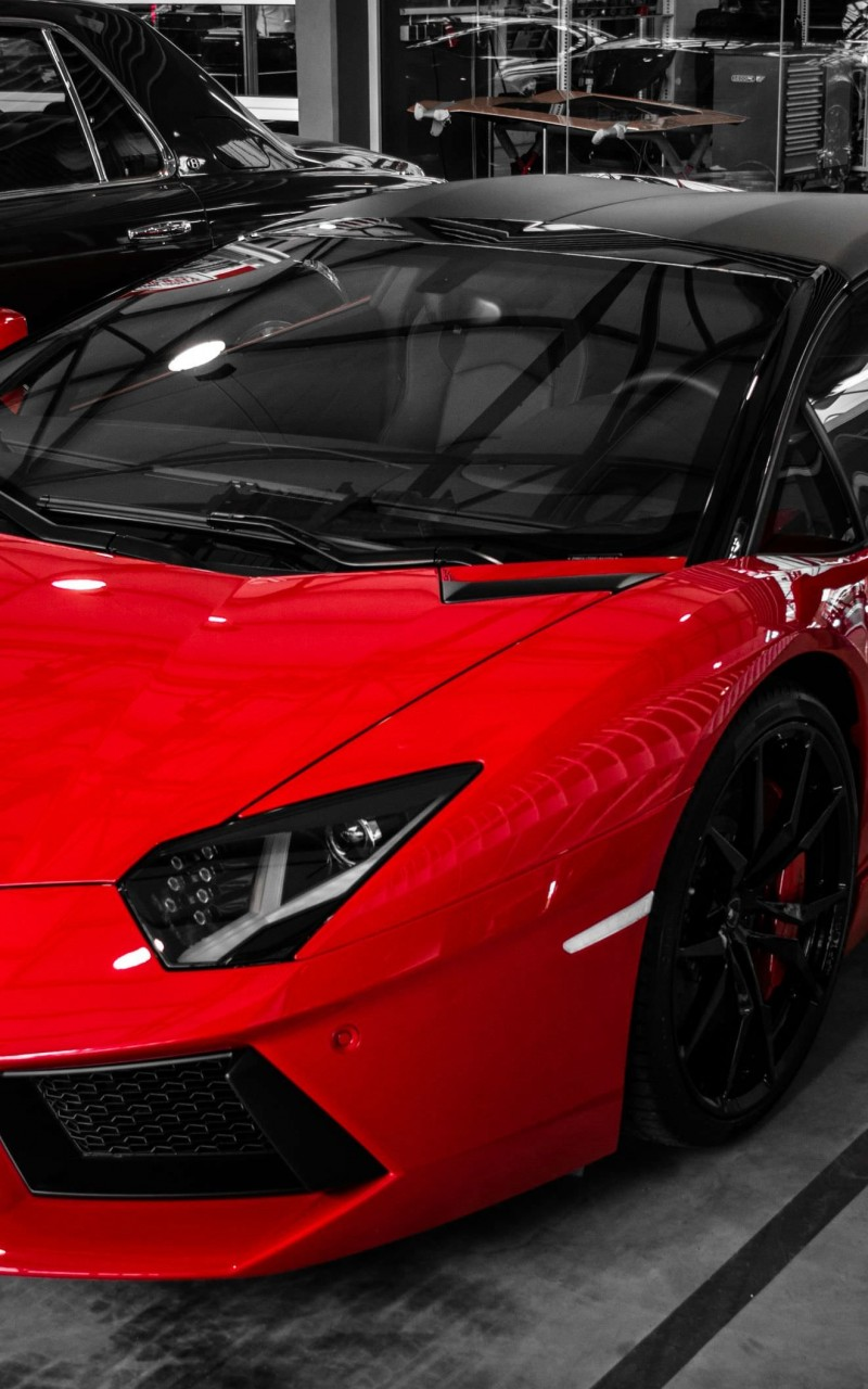 Red Lamborghini Aventador Wallpaper for Amazon Kindle Fire HD