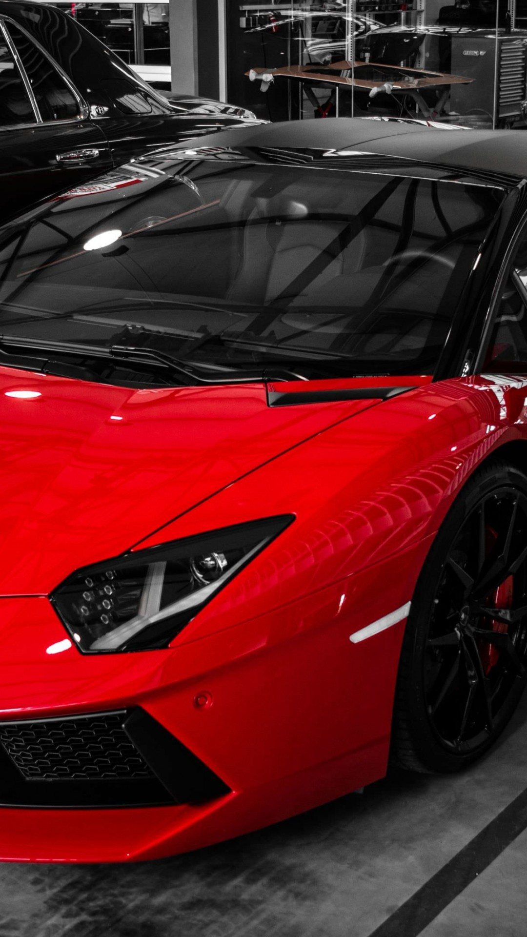 Red Lamborghini Aventador Wallpaper for LG G2