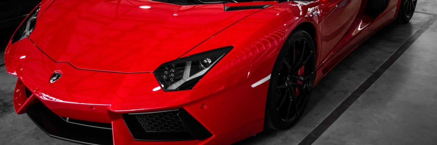 Red Lamborghini Aventador Wallpaper for Social Media Twitter Header