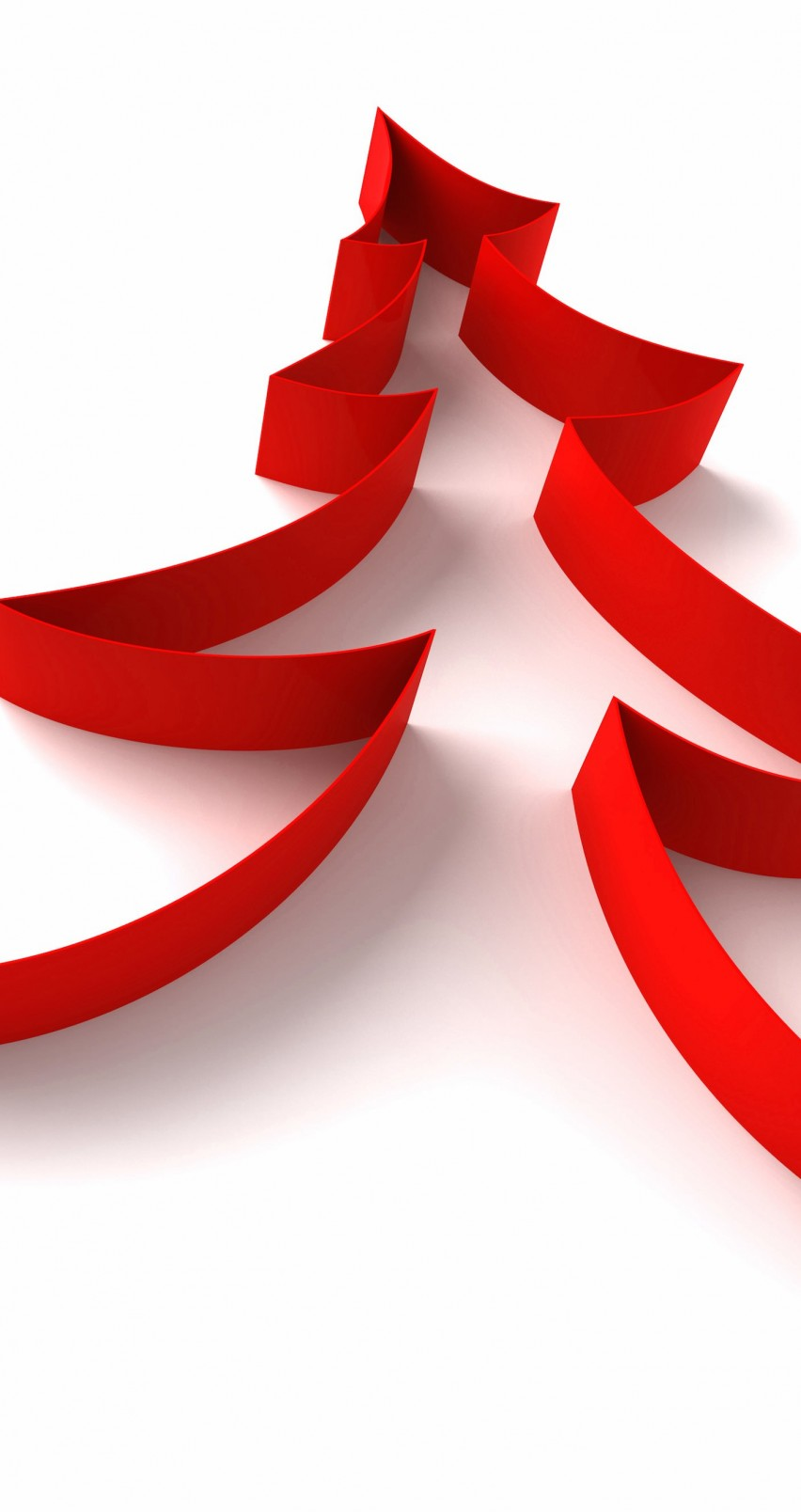 Red Ribbon Christmas Tree Wallpaper for Apple iPhone 6 / 6s