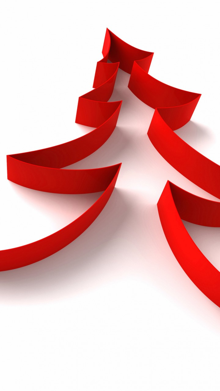 Red Ribbon Christmas Tree Wallpaper for Lenovo A6000
