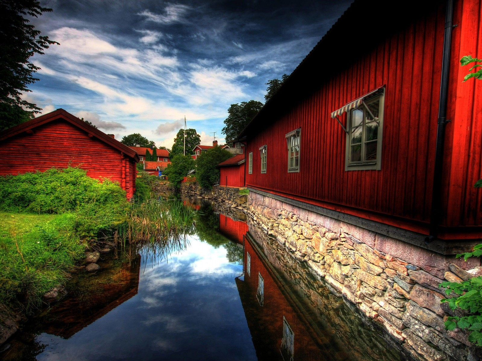 Red Village, Norberg, Sweden Wallpaper for Desktop 1600x1200