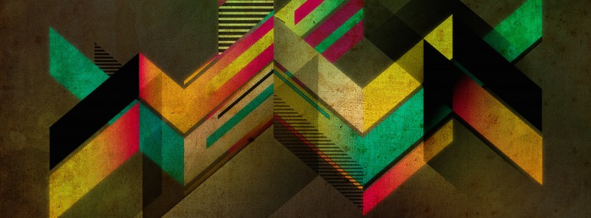 Retro Shapes Wallpaper for Social Media Facebook Cover