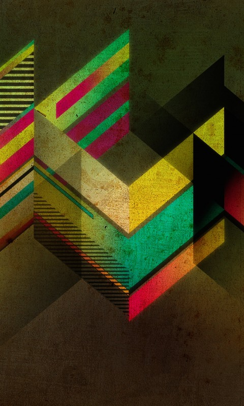 Retro Shapes Wallpaper for HTC Desire HD