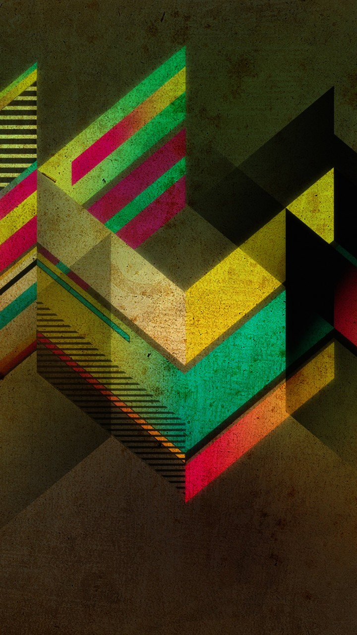 Retro Shapes Wallpaper for HTC One X