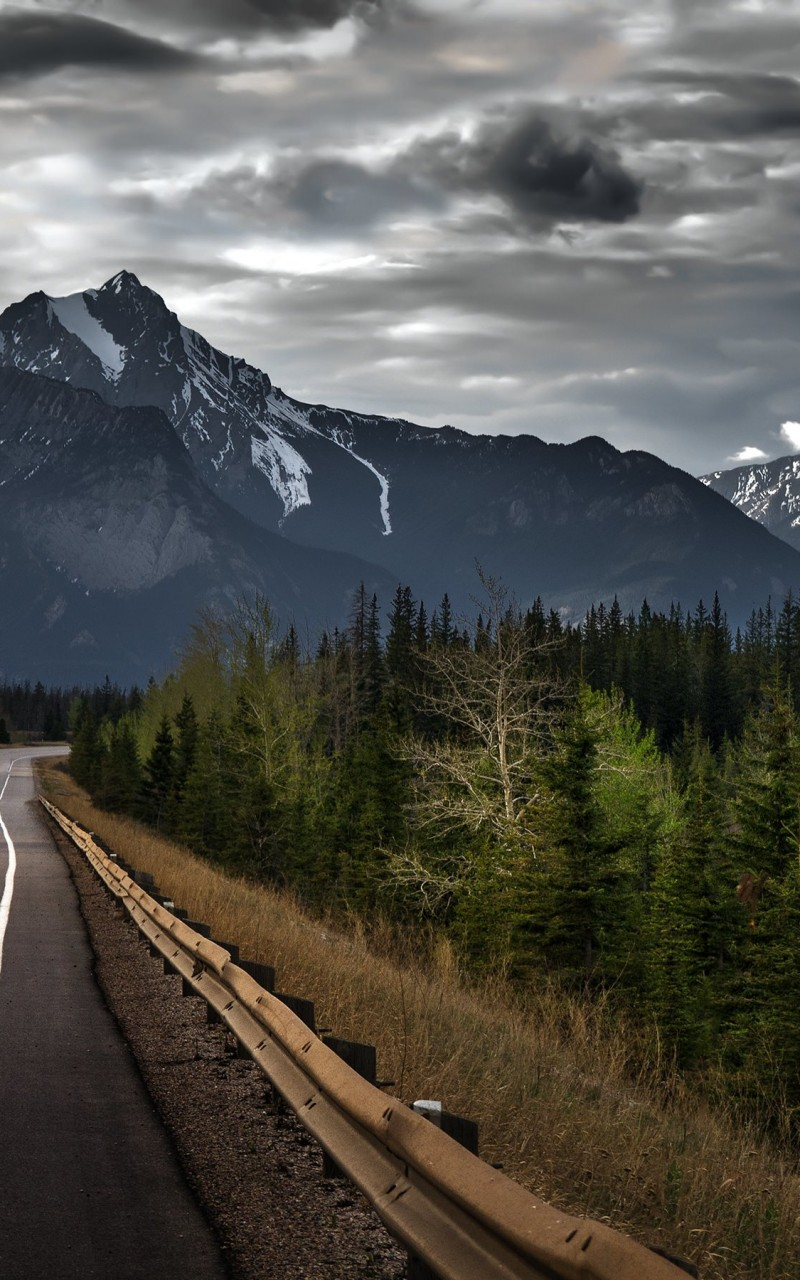 Road trip on a stormy day, Canada Wallpaper for Amazon Kindle Fire HD