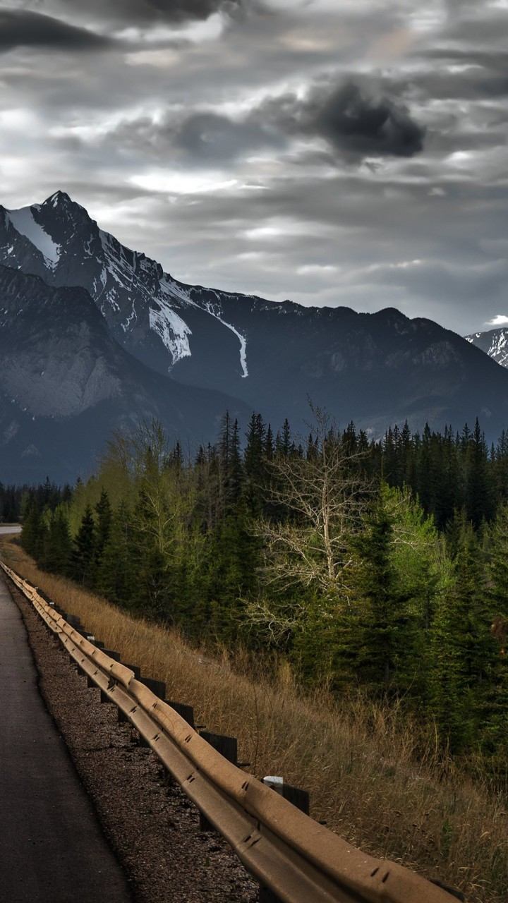 Hd wallpaper for xiaomi - Download Road Trip On A Stormy Day Canada Hd Wallpaper