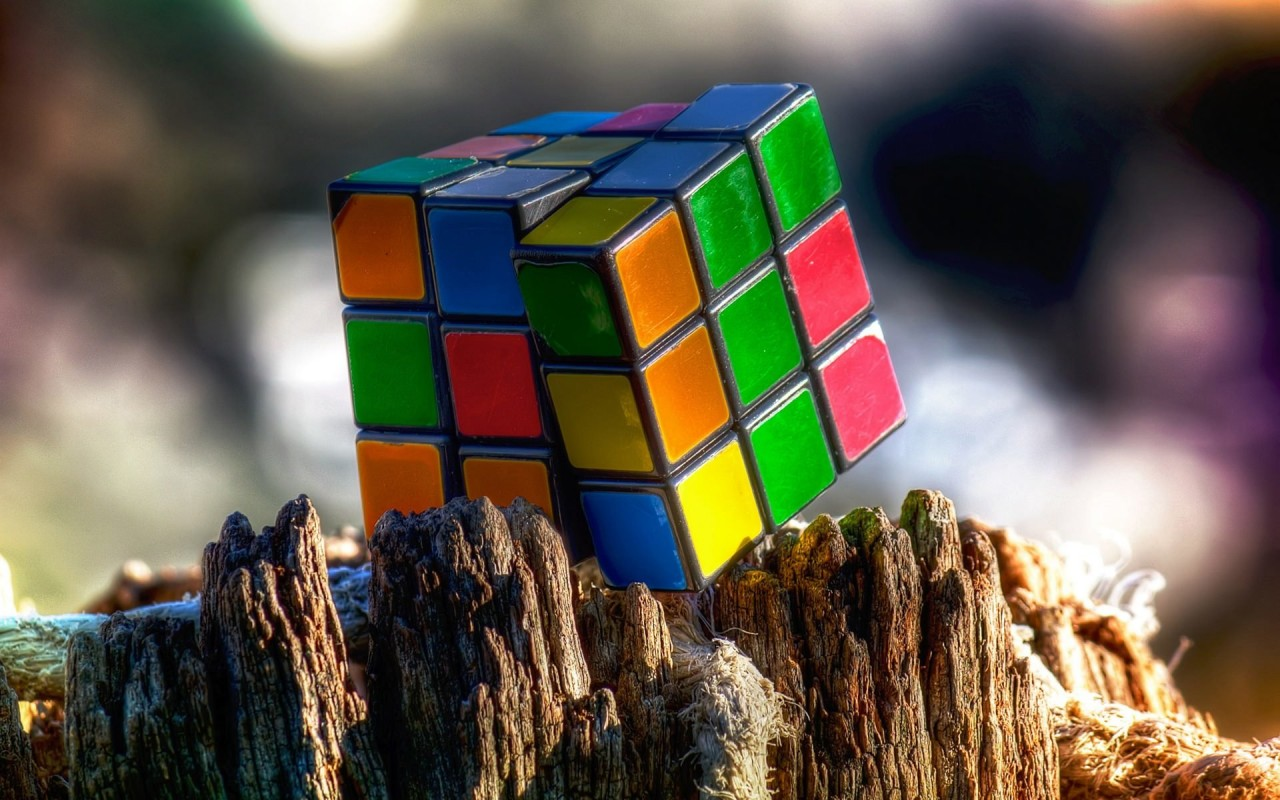 Rubik's Cube Wallpaper for Desktop 1280x800