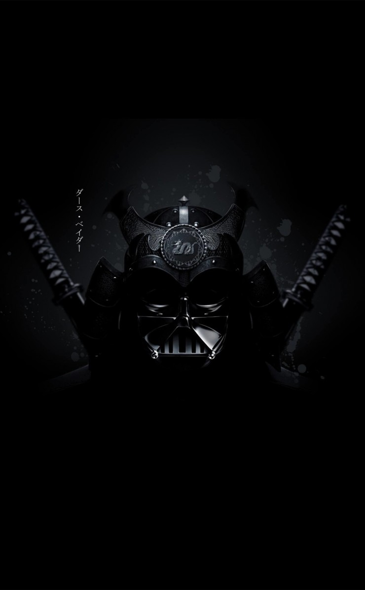 Samurai Darth Vader Wallpaper for Apple iPhone 4 / 4s