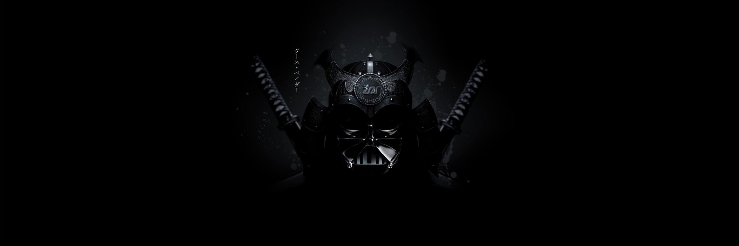Samurai Darth Vader Wallpaper for Social Media Twitter Header