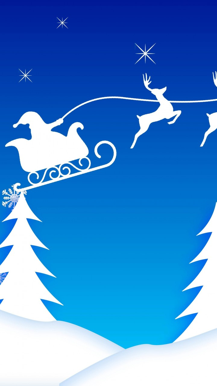 Santa's Sleigh Illustration Wallpaper for Google Galaxy Nexus