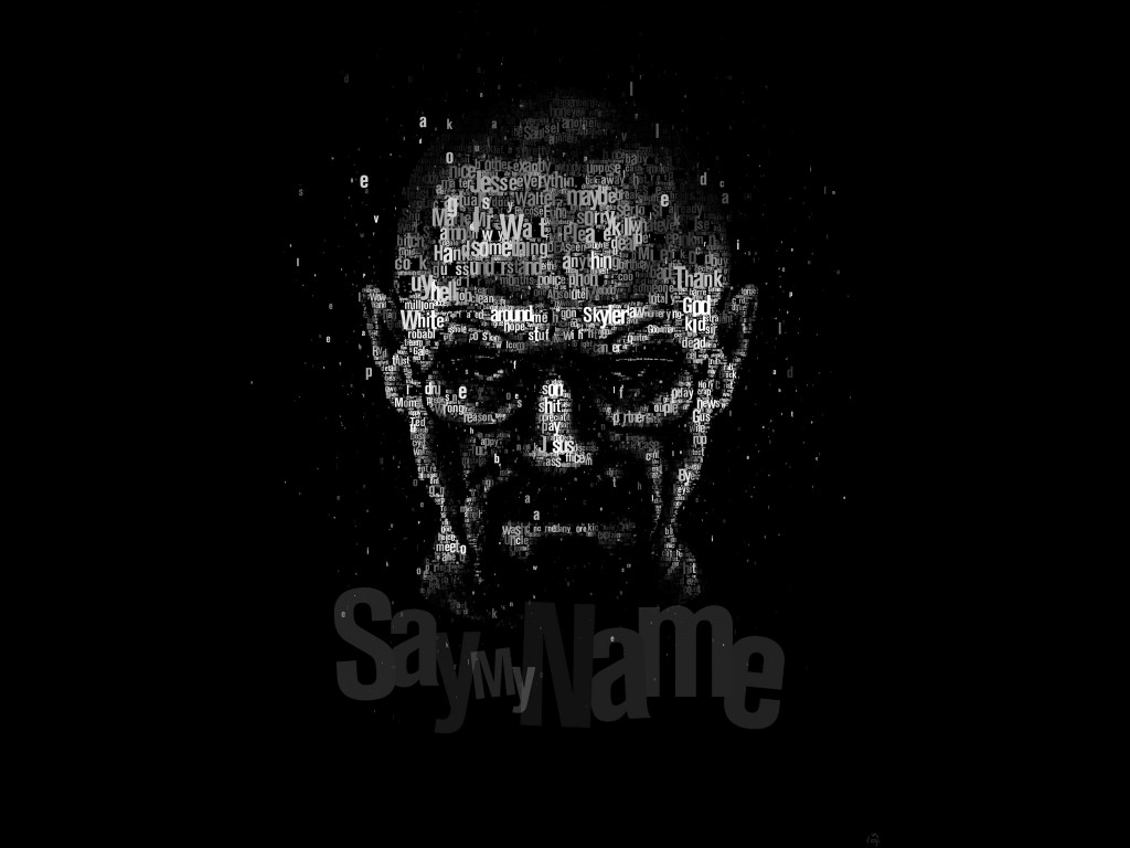 Say My Name - Typography Art Wallpaper for Desktop 1024x768