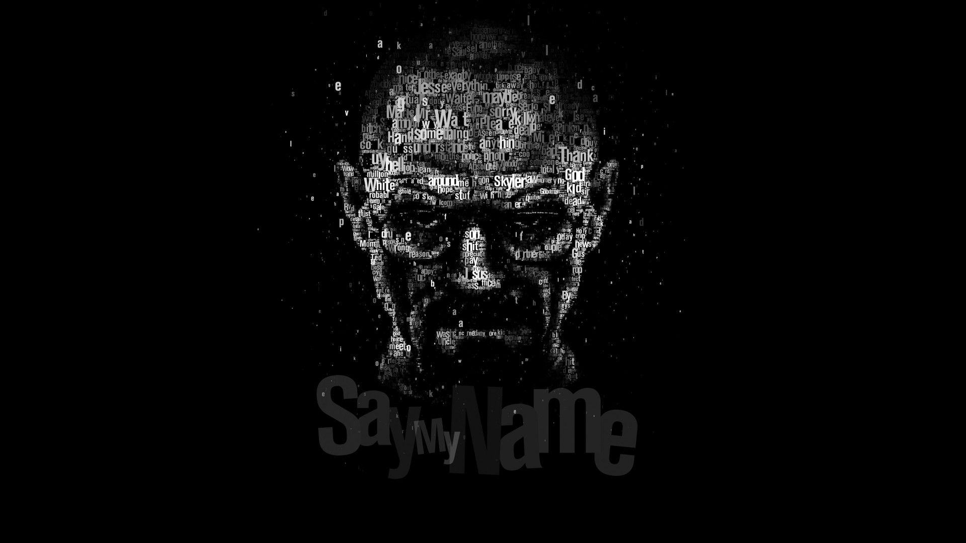 Say My Name - Typography Art Wallpaper for Desktop 1920x1080