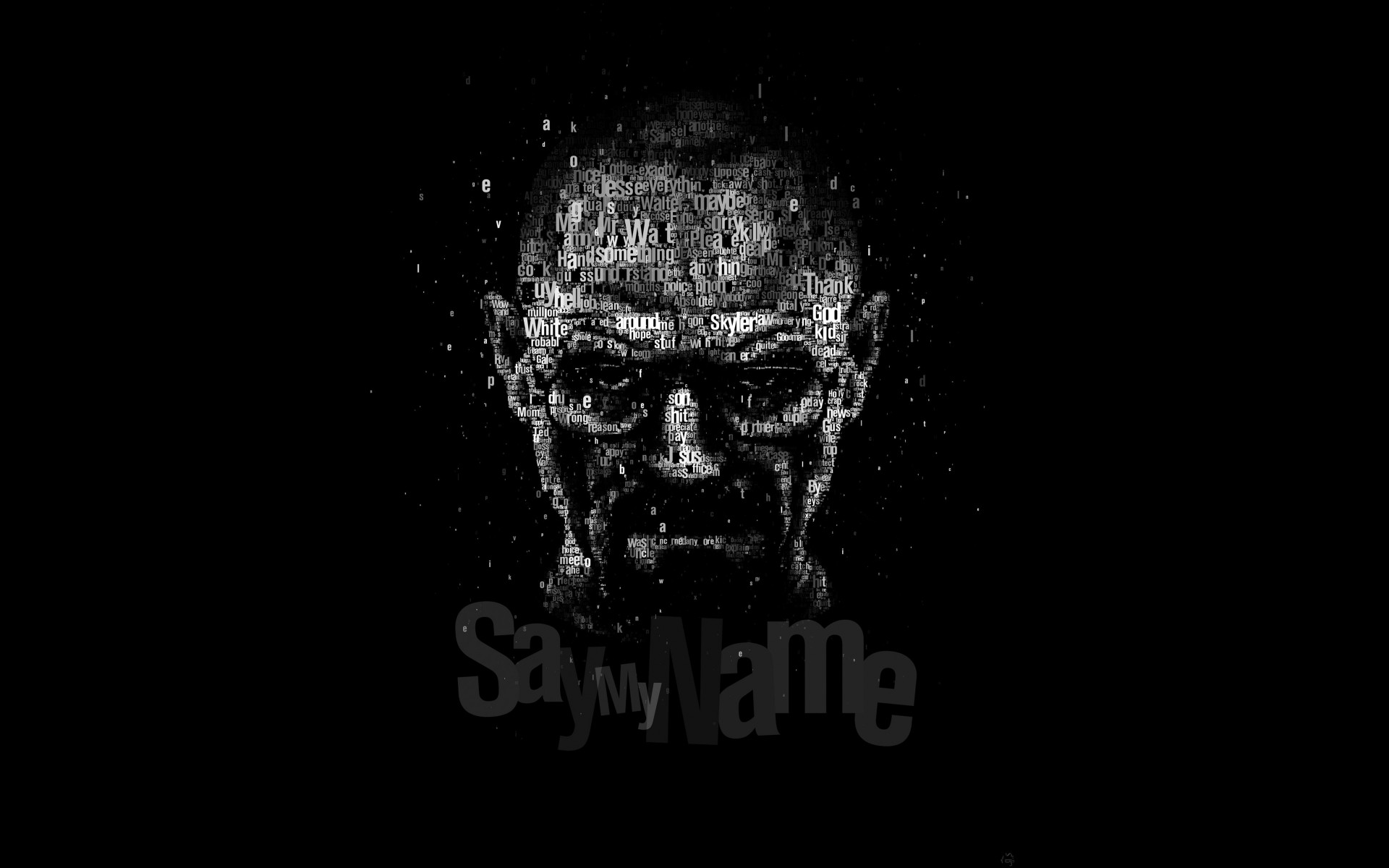 Say My Name - Typography Art Wallpaper for Desktop 1920x1200
