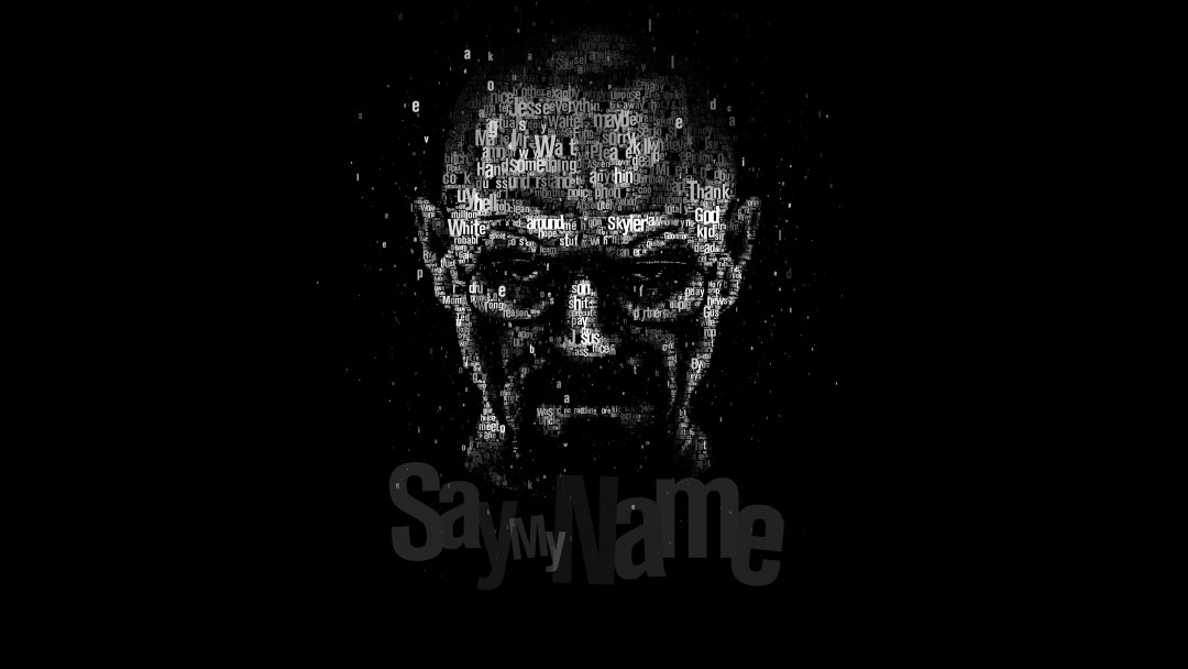 Say My Name - Typography Art Wallpaper for Social Media Google Plus Cover