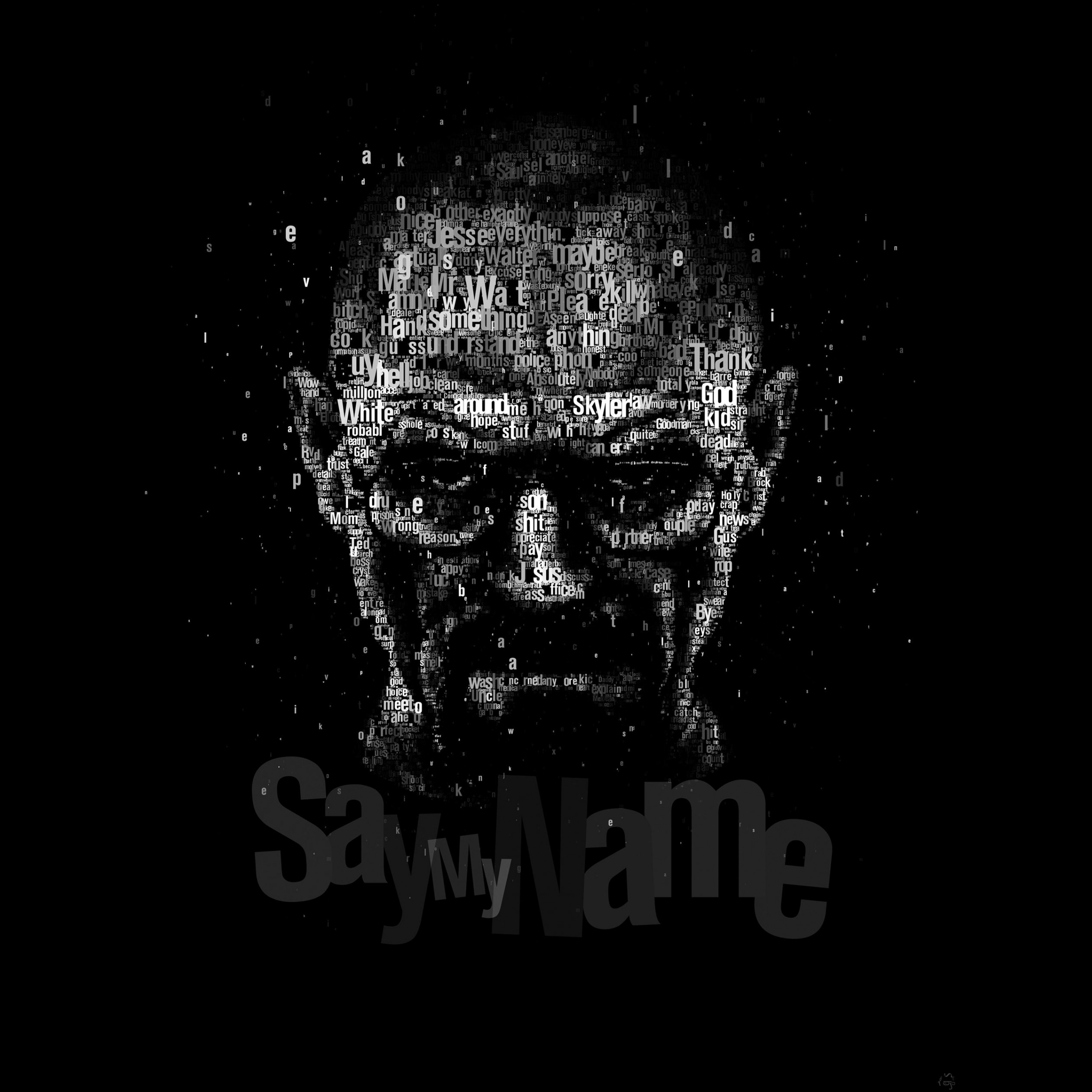 Say My Name - Typography Art Wallpaper for Apple iPad 4